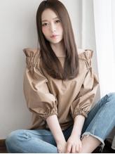 正統派ツヤ感モーブ☆フェミニンストレート フェミニン.60