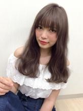 【Real 遠藤眞実】外国人風グレージュカラー☆シースルーバング カントリー.11