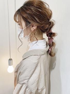 【LITA】編みおろしスカーフアレンジ