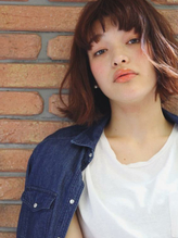 【M.SLASH】オシャレ☆短めバングのエアリーミディb くびれカール.54