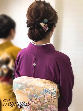 色留袖アップスタイル☆