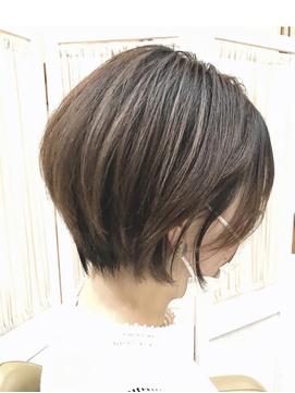 【コトノハ】大人可愛い前下りショート20代30代40代涼しげヘア