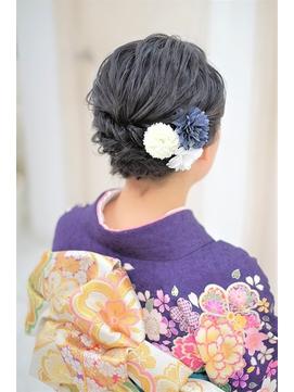 (髪の短い方)着物にも合うヘアセット☆