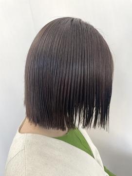 【サマーカット】切りっぱなしボブ×くすみカラー×ウェットヘア