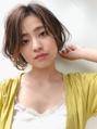 【GARDEN西川】毛先パーマ・小顔前髪なしハイライトショートボブ