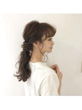 大人かわいい 後れ毛たっぷり ヘアアレンジ 結婚式◇二次会ヘア.58