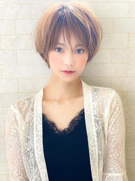 《Agu hair》女っぽふんわりマロンショート