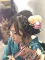 編み込みシニヨン