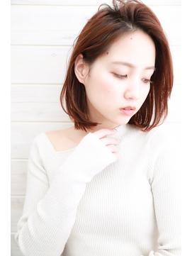 [OCEAN Hair&Life]かき上げ前髪☆毛先パーマ☆大人ボブ☆