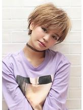 《Agu hair》小顔かわいいハイトーンマニッシュショート.42
