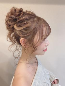 ゆるふわパーティーお団子アップスタイル【仙台D】SATOMI