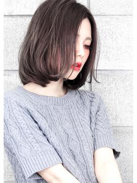 『毛束感 ×プラチナグレージュ』☆カールBobミルクティーカラー