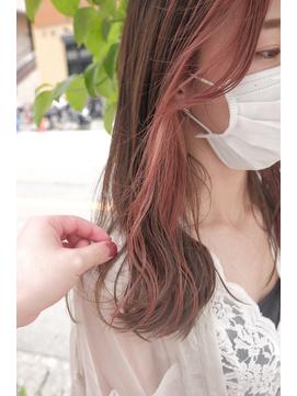 【tricoJR茨木】イヤリングカラー♪ピンクベージュ