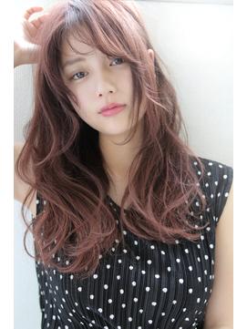 【Blanc/浜松】ニュアンスウェーブ_ピンクアッシュ_ロング
