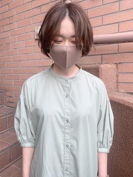 【katachi】ライトなベージュ 春夏 ウェーブボブ