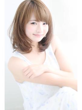 【アフロート重山】鎖骨レングス小顔ひし形セミディ♪30,40代◎