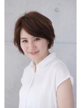 【&- hair/鈴木孝治】大人後頭部ふんわりショートボブ 西葛西.41