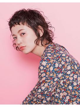 【NiL】ピンクアッシュ × ショートパーマ