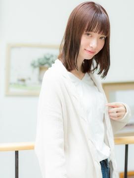 +animo吉川美南+前髪パッツン!うる艶髪鎖骨ミディアムC