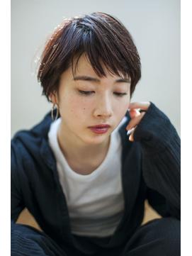 【Lit.】斜めバングボルドーショート【担当YUKINA】