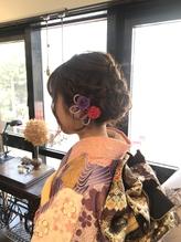 成人式前撮りヘア。.38