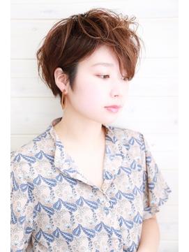 [OCEAN Hair&Life]大人可愛い☆毛先パーマ☆ベリーショート☆