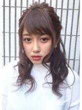 【AnFyeforprco】ゆる巻きウェーブ☆無造作ハーフアップ♪ 盛り髪.46