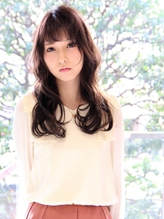 【M.SLASH】フリンジバングx暗髪♪大人ロマンチックロングa くびれカール.50