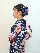 【hurakoko trico】小松隼透 編み込みアップの着物スタイル♪.53