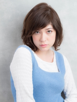 〈NOB杉田店〉ショートパーマ七三分けバング黒髪デジタルパーマ