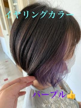 【impres】☆イヤリングカラー×ショートボブ☆