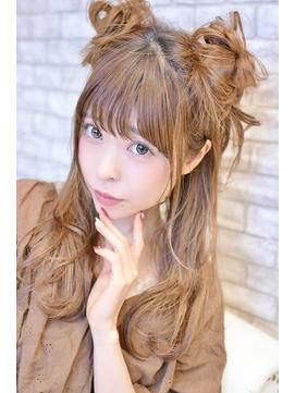 【メイズ東中野・鍛原志行】ハーフツインお団子アレンジ