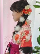 【小学生】袴着付け+ヘアセット.3