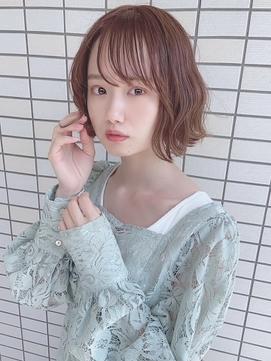前髪/くびれ/イヤリングカラー/イメチェン/ラベンダーカラー