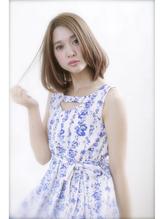 【FORTE 銀座】透けるワンカールボブ♪ミルティーベージュヘア 女子力.34