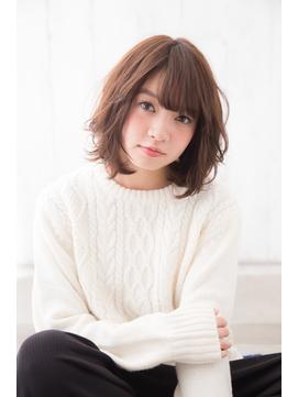 【NEUTRAL太田愛】ひし形ゆるふわボブパーマ フリンジバング