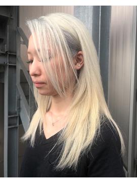 【DIORAMA】ホワイトブロンド/シャギーカット