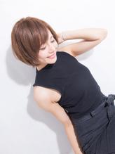 **Gem Garden**ハネさせない☆ナチュラルストレートショート 前髪パーマ.25