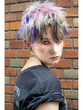【DIORAMA】パンクショート/ピンク/パープル/前髪インナーカラー