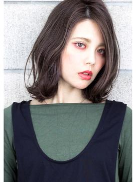 『外ハネ × グレージュ』切りっぱなしボブ ☆ デザインカラー☆