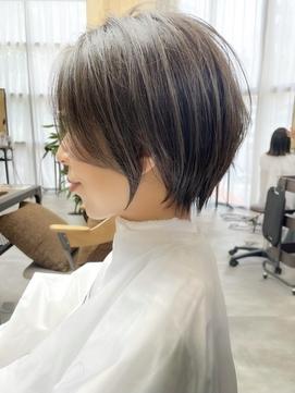 前髪イメチェンショート☆地毛風縮毛矯正