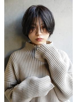 【+~ing deux】シースルーひし形ショートボブ【辻口俊