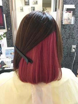 インナーカラー♪ピンクブラウン×プラチナピンク