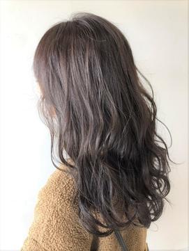 『 ブルーバイオレット ロングウェーブ 透明感のある暗髪 』