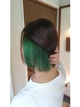 インナーカラー×グリーン.39