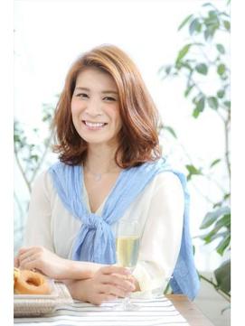 【MINX山本】30代40代におすすめ!長め前髪のヘルシーミディアム