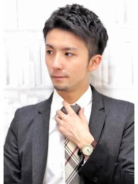 七三オールバック ビジネスマンスタイル【銀座一丁目 美容室】