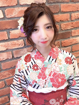 浴衣 成人式 卒業式 振袖 袴 ヘアアレンジ