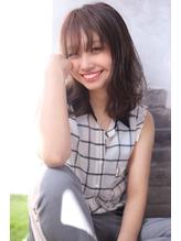 【ALMO】斜めバングツヤ髪×マッシュウルフヌーディカラー.3