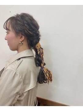 【中崎町】パリジェンヌ☆スカーフアレンジ